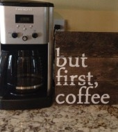 Pallet Sign- but first,coffee