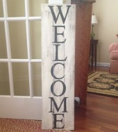 Pallet Sign- Welcome