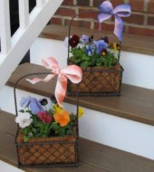 Event Fee:  Create an Easter gift or an Easter table centerpiece planter, Thurs., April 13th, 5:30pm